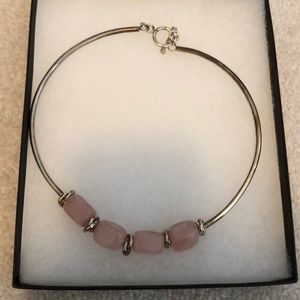 Silpada pink and silver necklace
